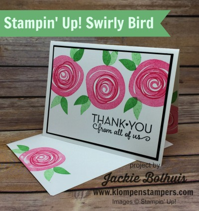 Thank-You-Card-With-Pink-Floral-Swirls-and-Green-Leaves-by-Jackie-Bolhuis