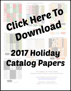 Download this Coordinating Colors Chart for all the DSP in the 2017 Stampin' Up! Holiday Catalog.