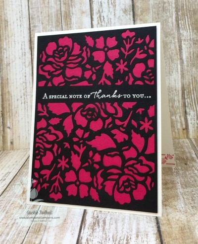 Tips for using the Detailed Floral Thinlits and the Floral Phrases Stampin' Up! stamp set.