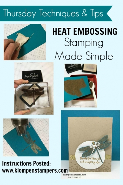 Step by step instructions for heat embossing.