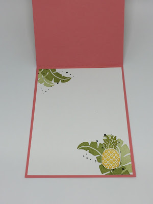 Thank you card using Stampin' Up! Pop of Paradise stamp set. By Jackie Bolhuis