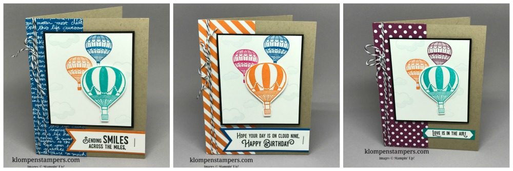Quick and Easy cards using the Lift Me Up bundle and a few basic stamping supplies. Directions on website! Cards by Jackie Bolhuis