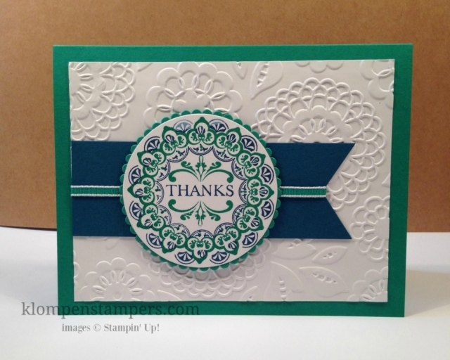 Make a Medallion is a fun stamp set you can get free during Sale-a-bration with an order. Don't miss this set. Only available until the end of March. Jackie Bolhuis