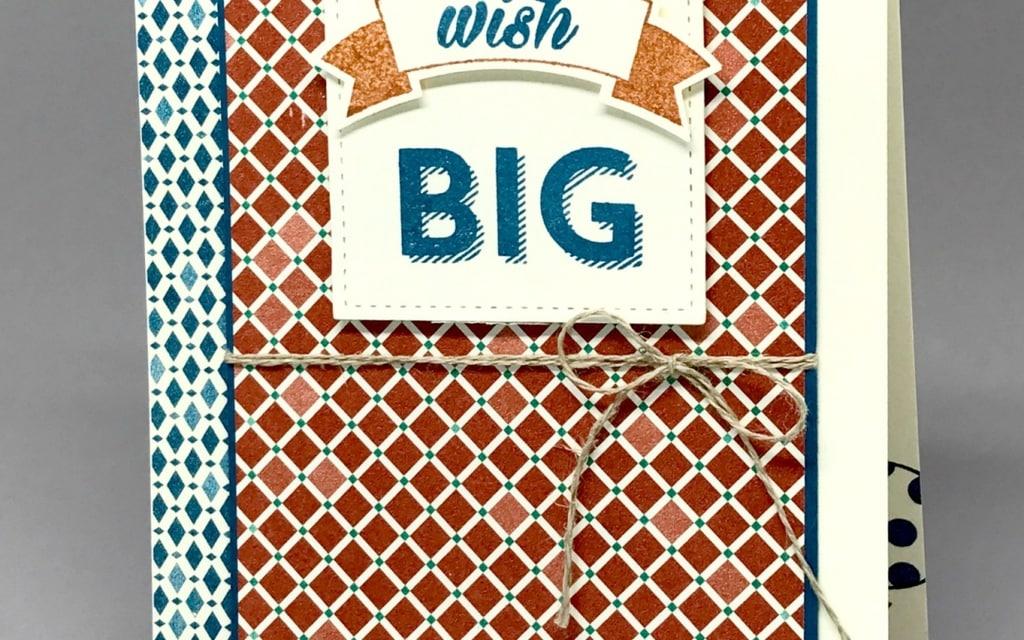 Masculine Birthday Card–DSP On Sale!