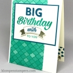 Birthday Bright Masculine Birthday Card–DSP ON SALE
