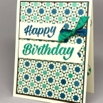 Masculine Birthday Card w/Moroccan Nights DSP