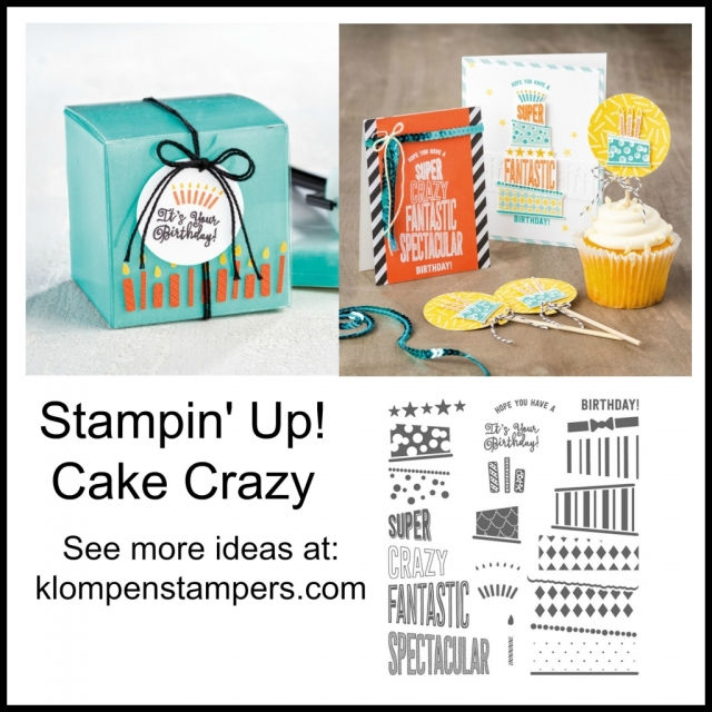 Other ideas using Cake Crazy by Stampin' Up!