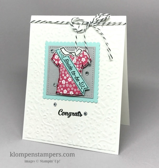 Custom Tee Bundle by Stampin' Up! is so fun and you can make so many different cards with it. by Jackie Bolhuis