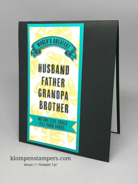 Masculine Birthday Card Klompen Stampers