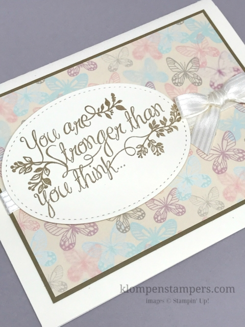 Heartfelt Sympathy stamp set and the Falling Love Designer Series Paper (DSP) work together so nicely to create the cards that are so hard to make-Sympathy Cards.