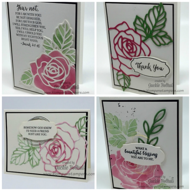 Rose Wonder Technique Series. 8 different quick and easy techniques with videos. By Jackie Bolhuis