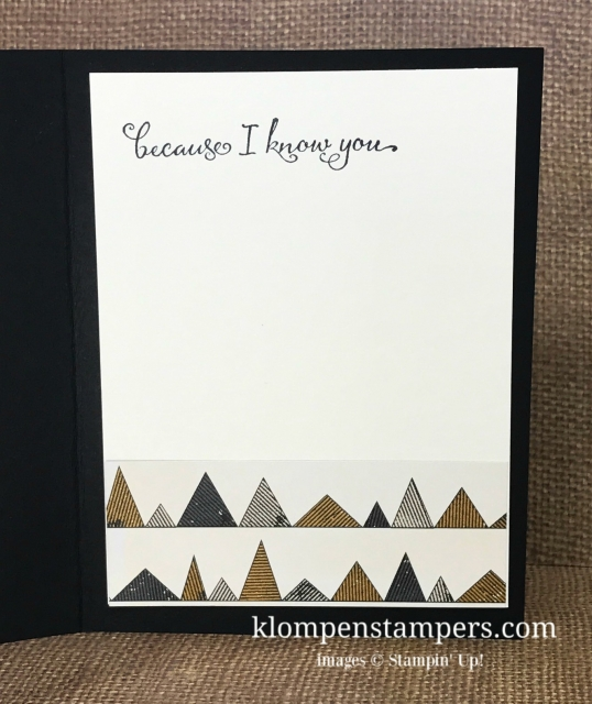 Make sure to add cardstock to the inside when you card base is dark. Card by Jackie Bolhuis