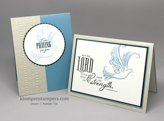 Strength & Prayers stamp set by Stampin' Up! is retiring May 31, 2017. If you like it, make sure to order before it's gone.
