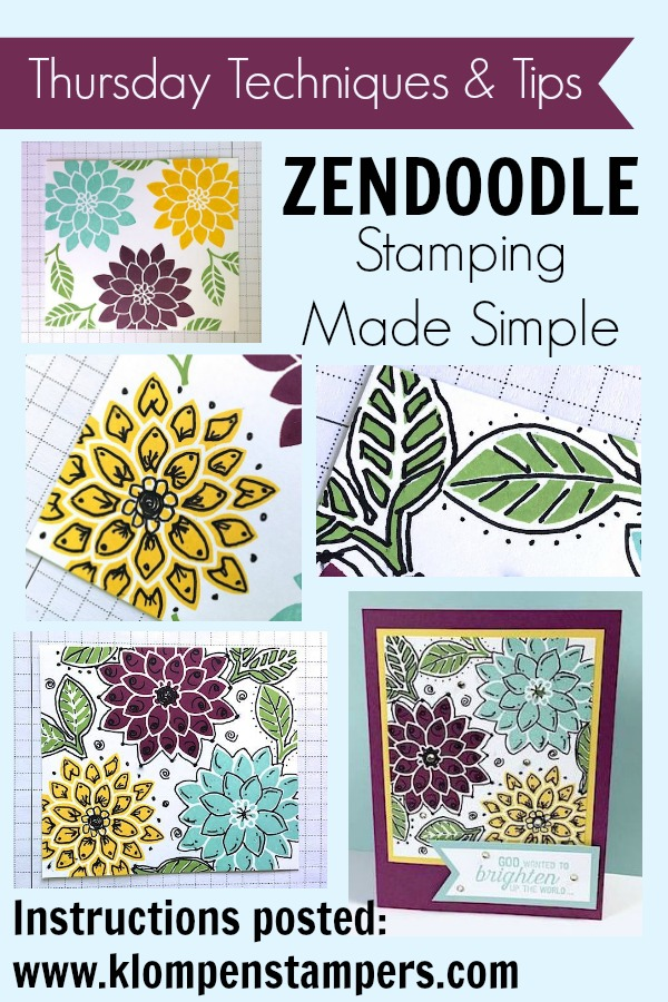 Step by step instructions for the Zendoodle technique. Something fun and different. Give it a try.