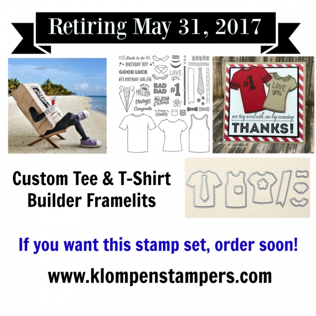 Lots of ideas posted with the Custom Tee Bundle by Stampin' Up!
