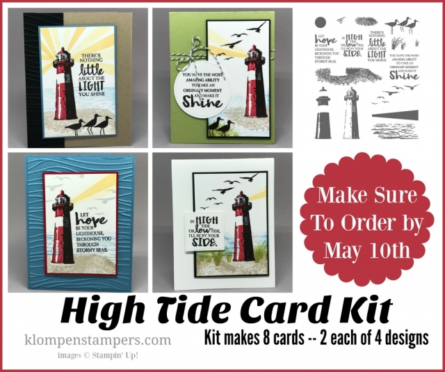 High Tide Card Collection. Free card kit with purchase, or tutorial and video available.