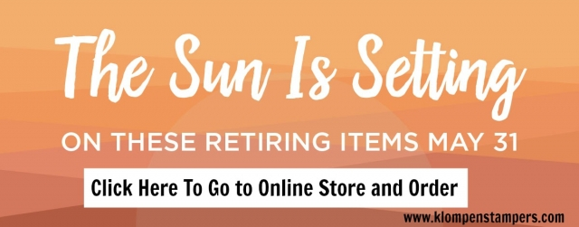 Stampin Up Retiring List is now available. Some products up to 50% off!
