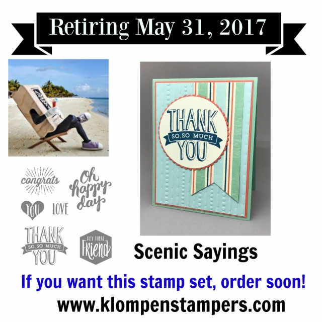 Scenic Sayins is a great stamp set with lots of all occasion greeting stamps.