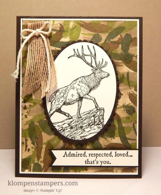 Instructions for a great background for masculine cards!