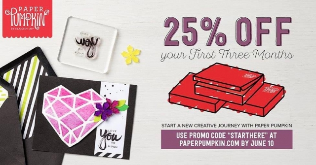 Subscribe to Paper Pumpkin by June 10th and get 25% off your first 3 months.