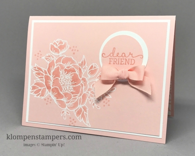 Embossing and watercoloring featured on this Monochromatic Elegant card. Blog post includes a video plus step by step instructions.