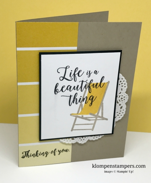 Colorful Seasons stamp set from Stampin' Up! Quick & easy card. Directions on website.