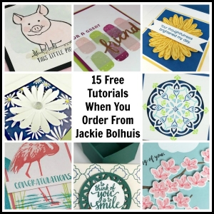 Receive 15 step-by-step tutorials when you order from Jackie Bolhuis, Stampin' Up! Demonstrator in June 2017