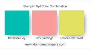 Stampin' Up! Color Combination for card made using Fabulous Flamingo stamp set.