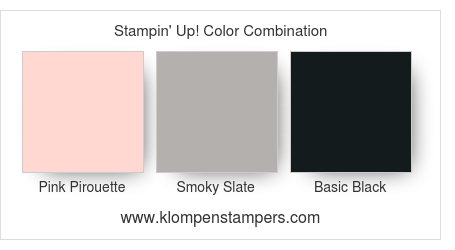 Stampin' Up! Color Combination for card made using This Little Piggy stamp set.
