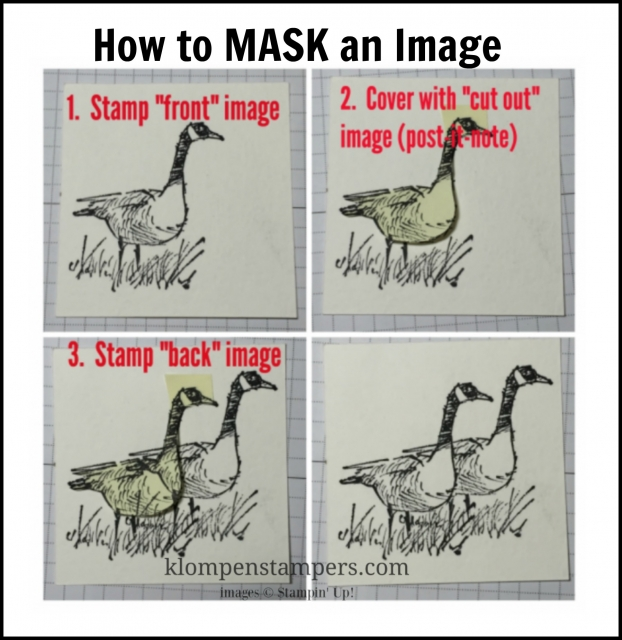 Instructions for Masking technique to make images appear behind each other.