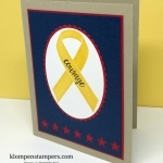 Card for a Military Member