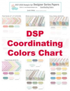 Coordinating Colors chart for Stampin' Up! Designer Series Papers