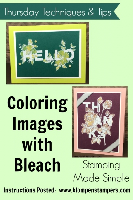 Video showing how to color your images with Bleach using Stampin' Up! Floral Statements stamp set.