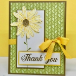 Daisy Delight bundle from Stampin' Up! is perfect for any occasion. Step-by-step instructions for card on website. klompenstampers.com