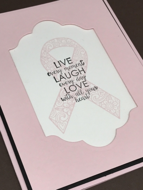 Ribbon of Courage stamp set from Stampin' Up! is perfect for quick and easy cards to let people know you care. All instructions and details posted at klompenstampers.com