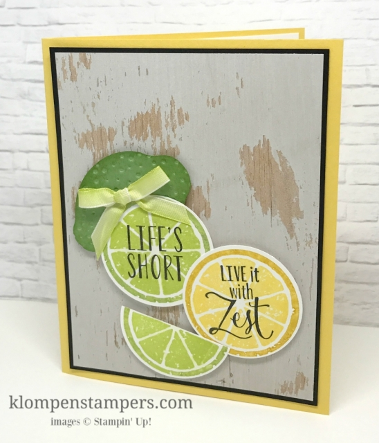 Lemon Zest stamp set is perfect for all your summer stamping. All details posted on website--it's a fun and quick & easy card!