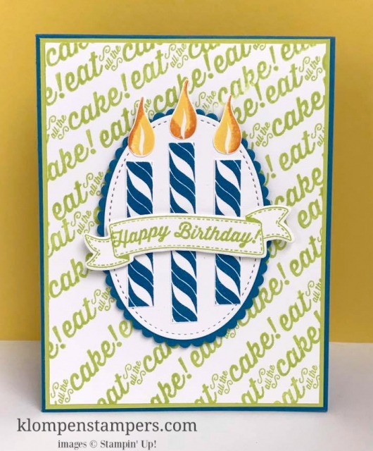 STAMPING MADE SIMPLE with this quick & easy birthday card using the Birthday Banners stamp set by Stampin' Up! Change the colors and it's a great card for anyone! All details posted on blog.