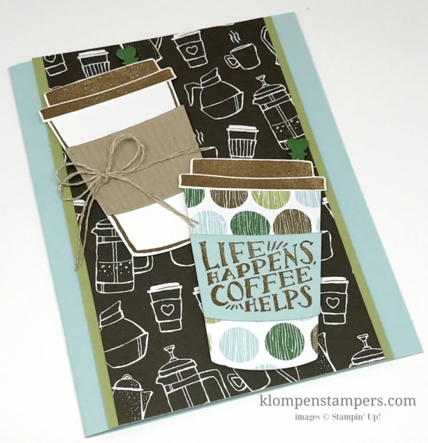 Coffee Cafe Bundle is so dang much fun! Lot's of ideas, tips & instructions. klompenstampers.com