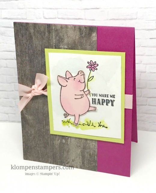 Watercoloring is easy with the This Little Piggy stamp set. Instructions posted on website. www.klompenstampers.com