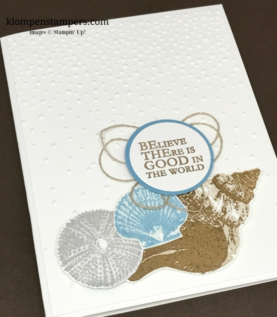 So Many Shells stamp set from Stampin' Up! is perfect for this simple & elegant card.