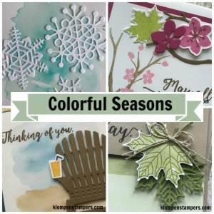 Online stamping class using Colorful Seasons stamp set from Stampin' Up!