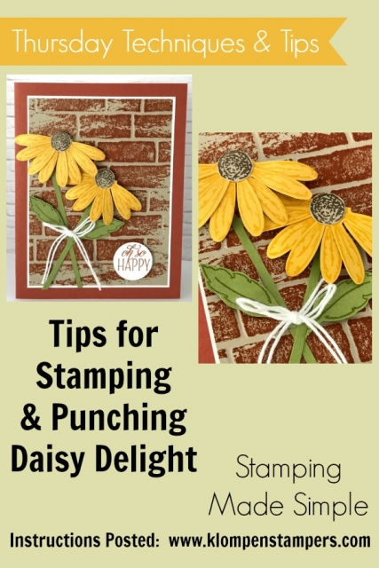 Video filled with tips for stamping with the Daisy Delight Stamp set and punch.