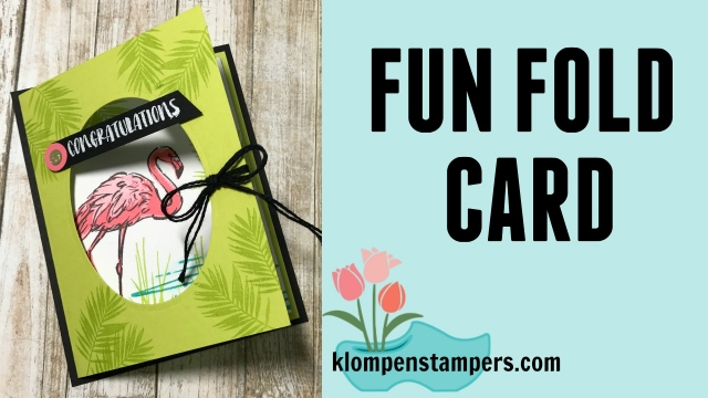 Fun Fold with Video! Check out this fun card using the Fabulous Flamingo stamp set from Stampin' Up!