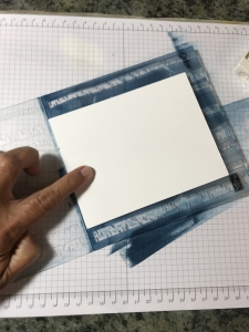 Ink your embossing folders for a fun different look. Quick & easy card--but a little messy!
