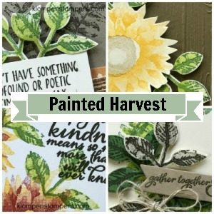 Online stamping class using Painted Harveststamp set from SU