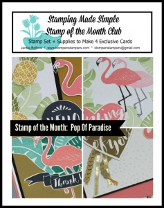 Pop of Paradise online stamping class. Includes PDF Tutorial and video.