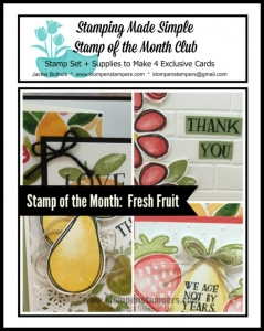 Fresh Fruit online stamping class. Includes PDF Tutorial and video.