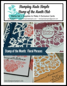 Floral Phrases online stamping class. Includes PDF Tutorial and video.