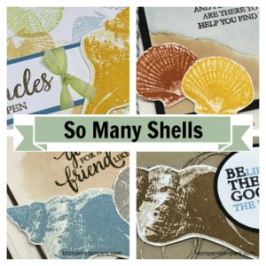 Online stamping class using So Many Shells stamp set from Stampin' Up!