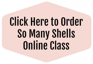 Online stamping class using So Many Shells stamp set. Complete tutorial and video with tips for making 4 unique cards.